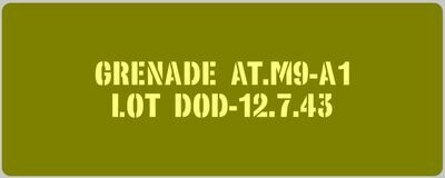 WW2 US Army M9 Rifle Grenade stencils set of 3