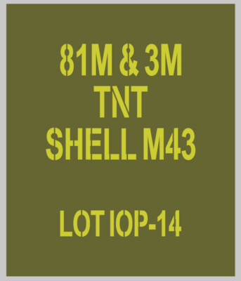 81mm mortar Shell stencils for re-enactors ww2 army Jeep prop