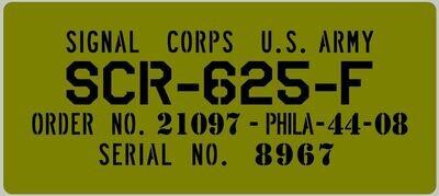 SCR Mine detector box stencil set