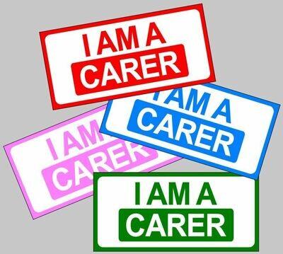 I am a Carer magnetic car sign for lockdown carers nurses etc