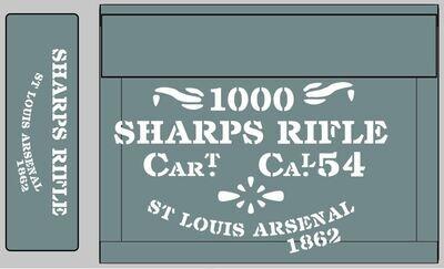 Sharps Rifle ammunition box stencils American Civil war (L) prop