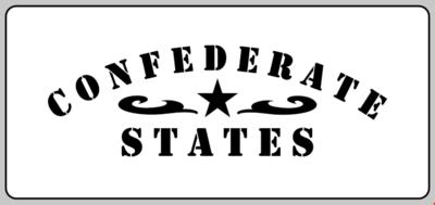 Confederate States stencil American Civil war  stencil set for re-enactors prop