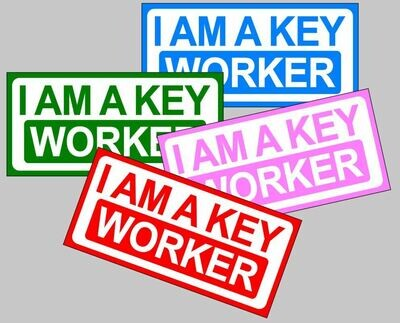 I am a Key Worker magnetic car sign for lockdown carers nurses NHS workers
