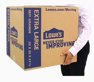 X-Large Cardboard Moving Box, 22-in W x 22-in H x 21.5-in D