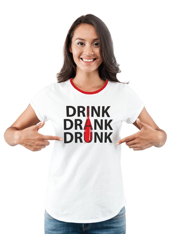 "Футболка женская "" Drink"""