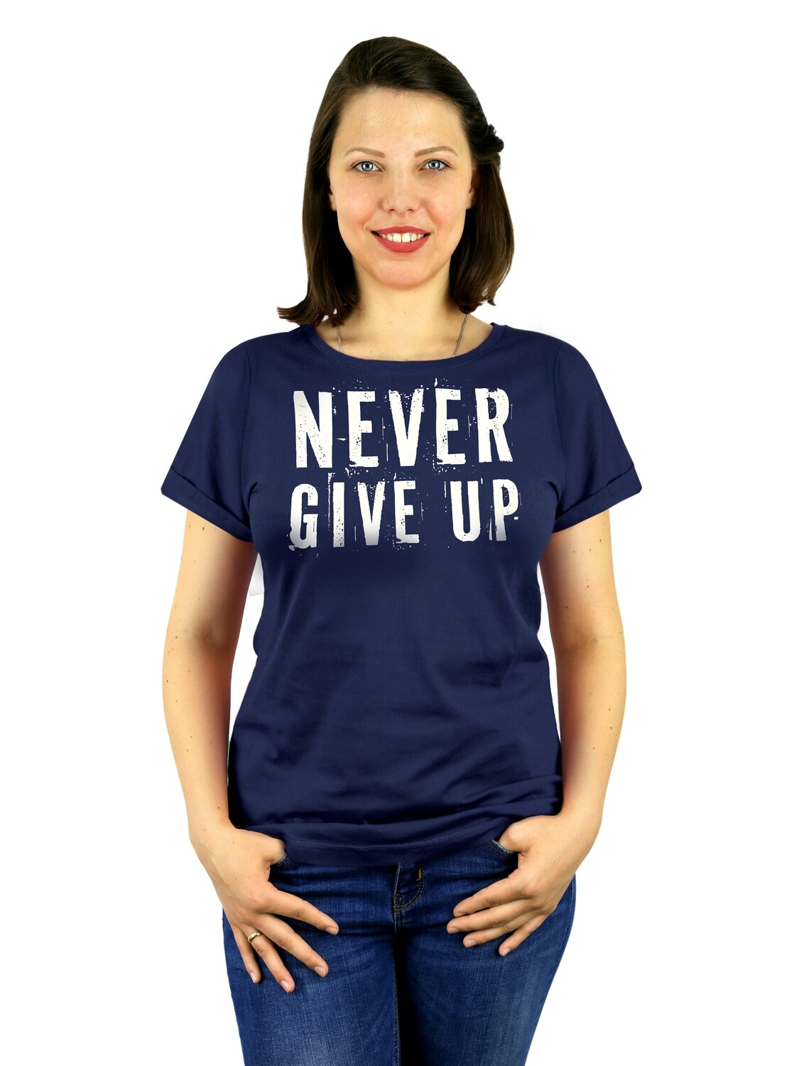 "Футболка женская "" Never give up"""