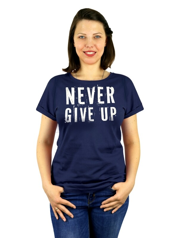 "Футболка женская "" Never give up"""