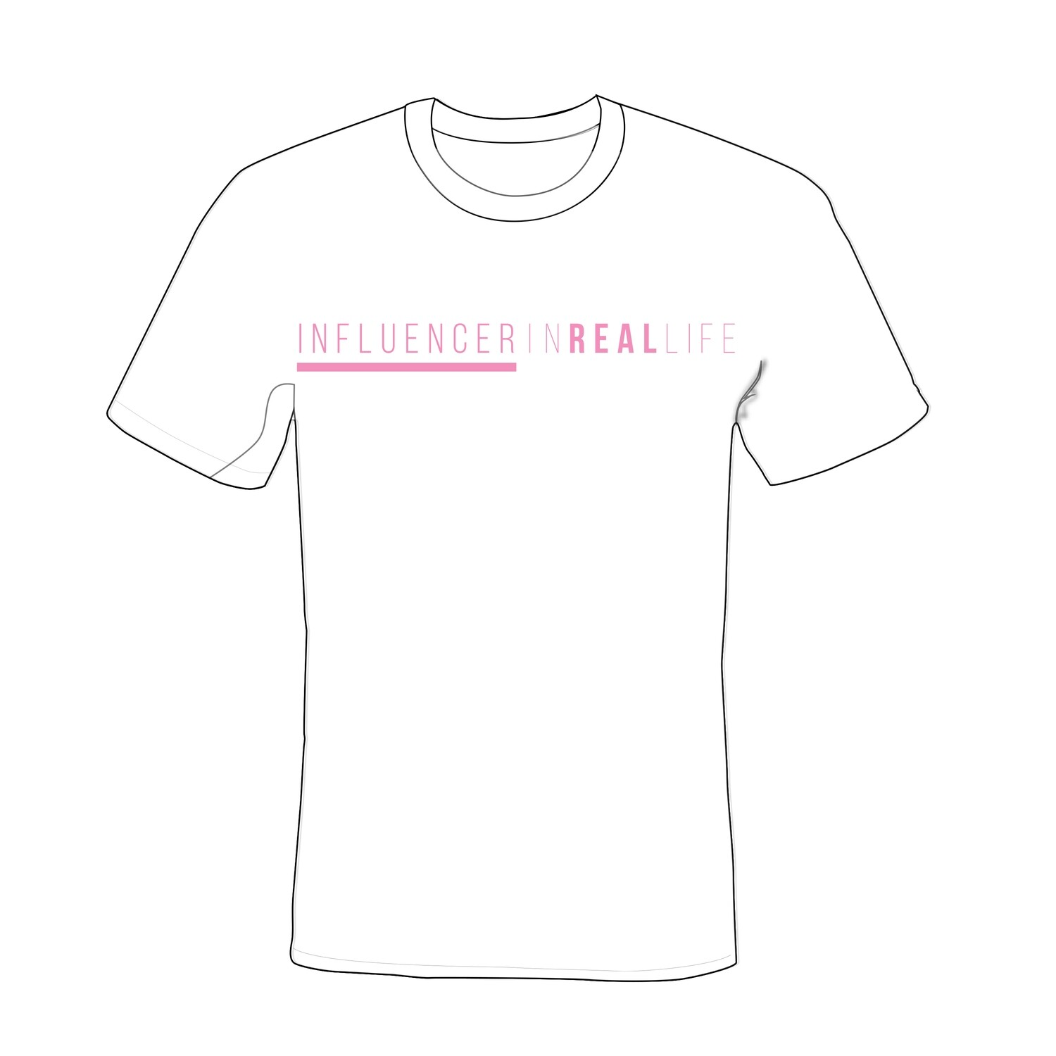Influencer In Real Life Shirt - White