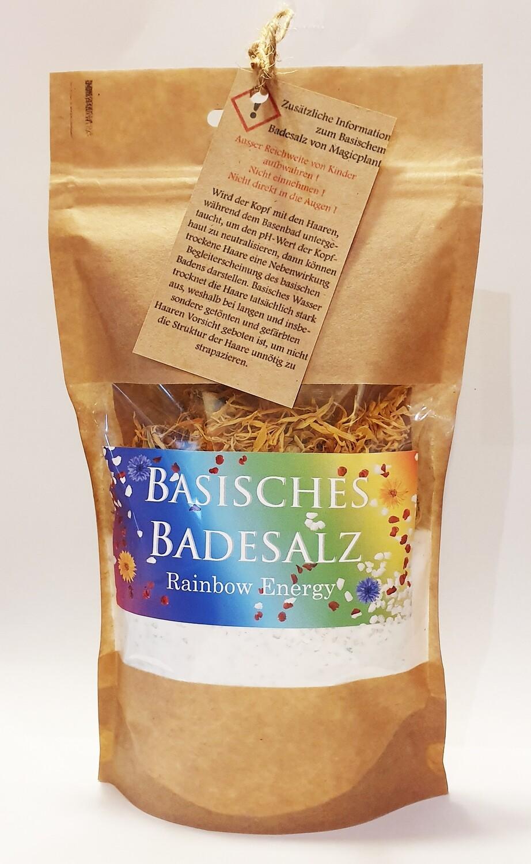 Basisches Badesalz mit Salz aus den totem Meer und mit echten Blüten von Magicplant (Rainbow-Energie)
