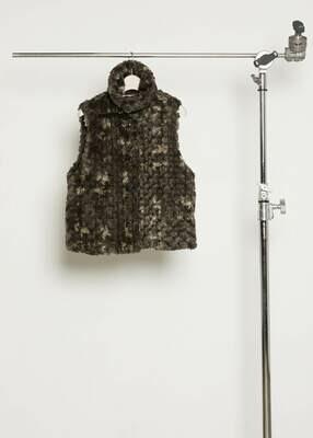 Fluffy eco fur vest