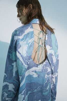 Suminagasi Dye Back Open Shirt