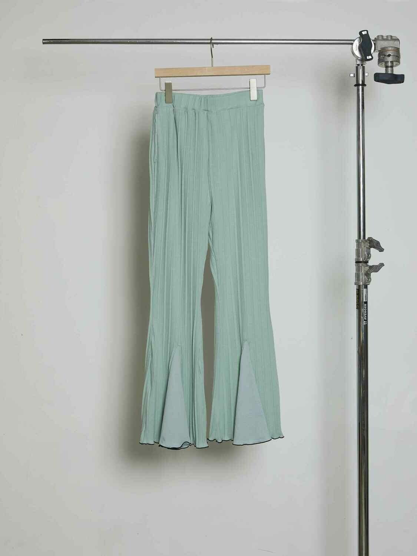 Tuck Pleats JQ  Flare Pants