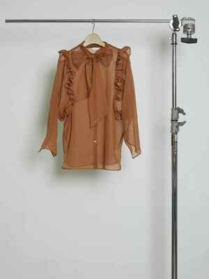 See-through Arm Frill Blouse