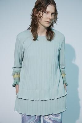 Tuck Pleats JQ Sleeve Lace TOPS