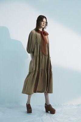 Shiny Taffta Volume Dress