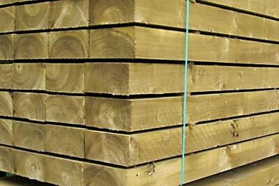 200 x 100mm Pressure Treated Softwood Sleeper