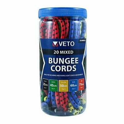 Mixed Set Bungee Cord - 8 Pcs