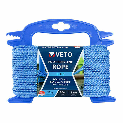 Blue Poly Rope - Winder 6mm x 20m