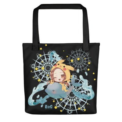 Pika-Shar Flying Magic Dolphin Tote bag