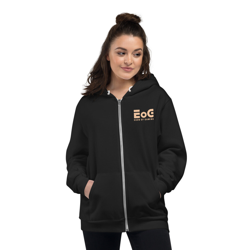 EoG Logo Beige Zipper Hoodie sweater