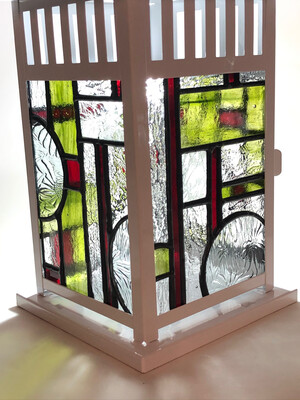 Stained Glass Lantern Green