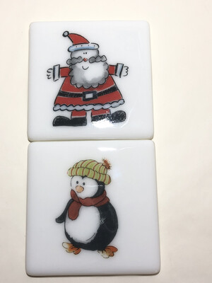 Santa & Penguin 2 Coasters
