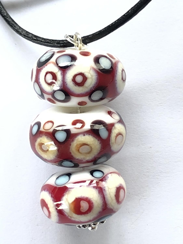 Red & Cream Dots