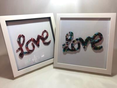 Red 'Love' In Box Frame