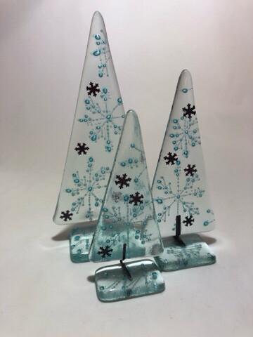 Medium Freestanding Snowflake Tree