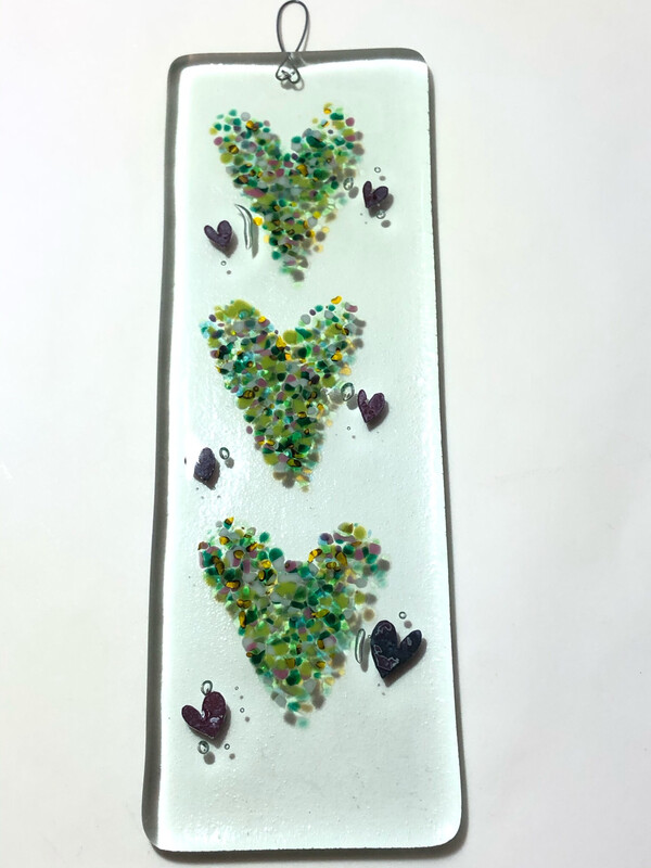 Small Hanging Heart Greens