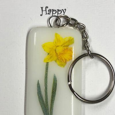 Daffodil Key Ring