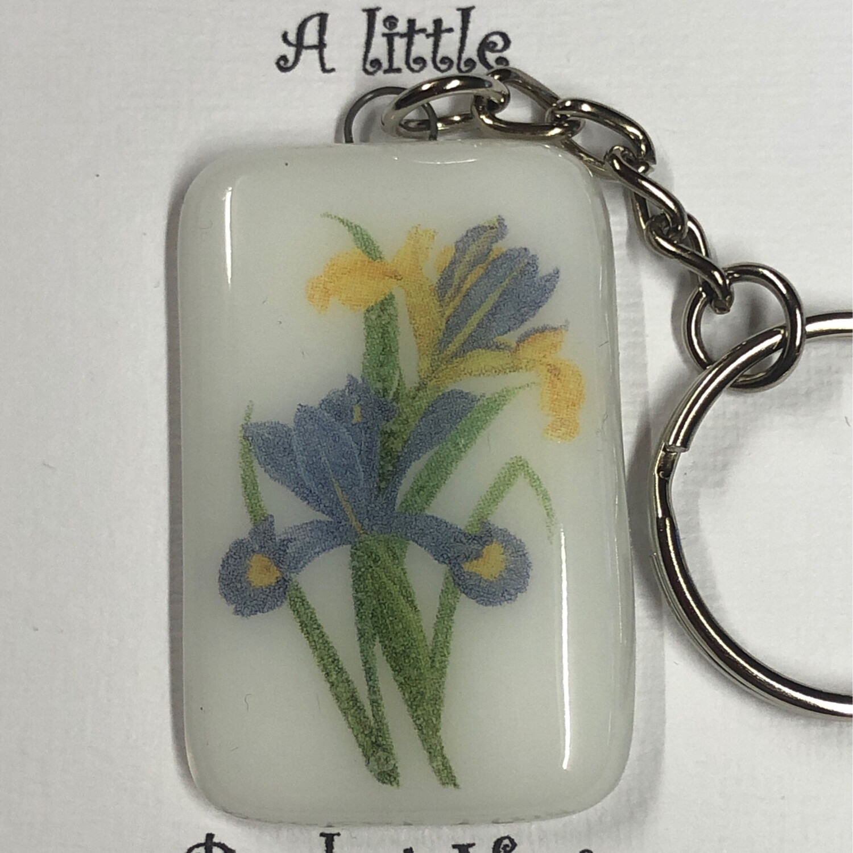 Blue Iris Key Ring