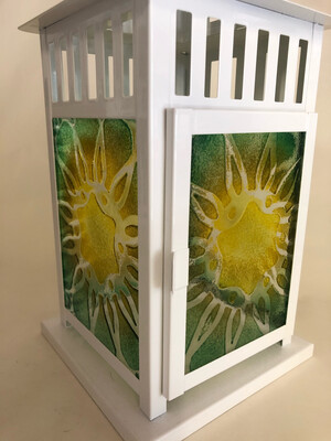 Fused Glass Lantern