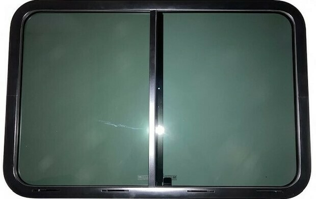 Living Window 36 X 24 Side Slider Black/Privacy