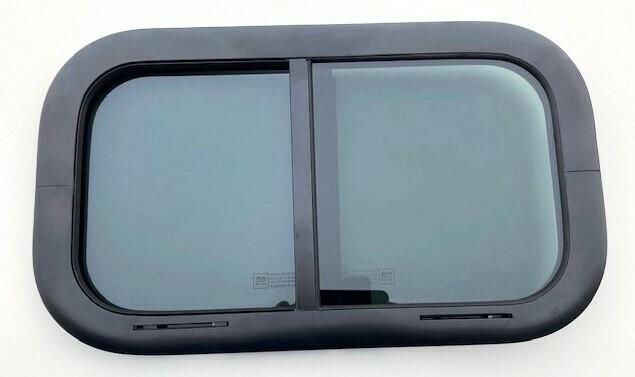 Vent Window 19.5 x 11.5 Side Slider Black/Privacy