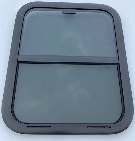 Horse Head window 18 x 22 NO Bars Black/Privacy
