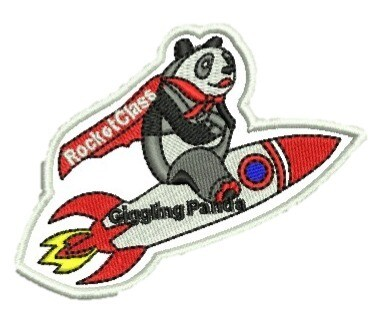 Rocket Class Panda Badge
