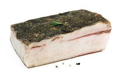 Lardo, ongesneden, vacuüm verpakt per 250 gr