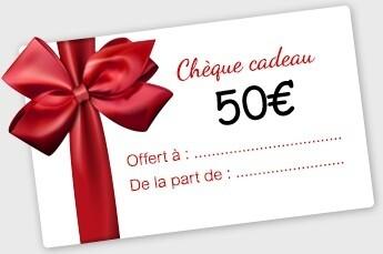 50€ Bon Cadeau à utiliser en Magasin