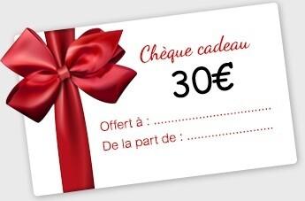 30€ Bon Cadeau à utiliser en Magasin