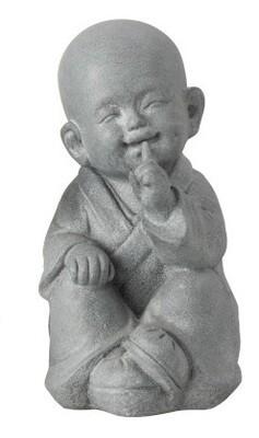 """Enfant Moine de la sagesse """"je ne dis rien..."""" 26 cm"""
