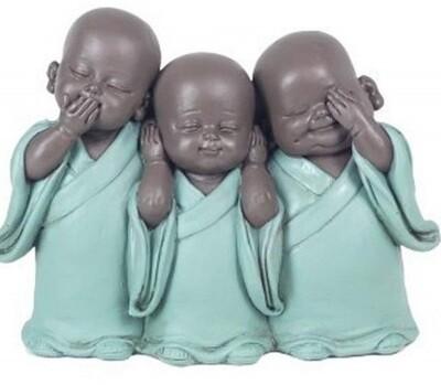 Trio Bouddha de la Sagesse 12 cm