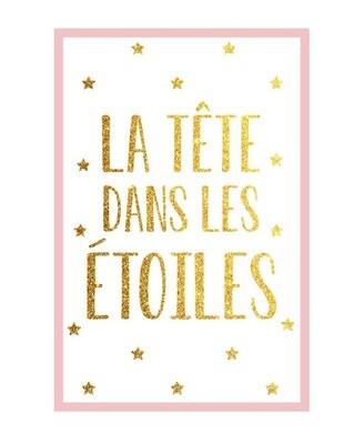 """Toile """"La Tête dans les étoiles"""""""