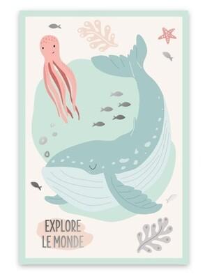 """Toile """"Explore le Monde"""""""