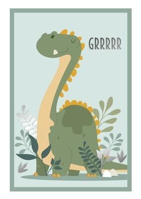 "Toile ""Grrrrr Le Dinosaure"""