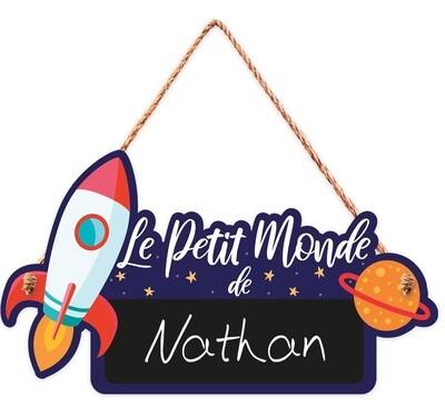 """Pancarte personnalisable """"Le petit monde de..."""""""