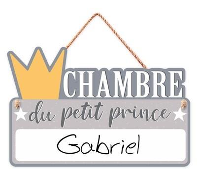 """Pancarte personnalisable """"Chambre du petit prince..."""""""