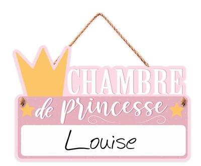 """Pancarte personnalisable """"Chambre de princesse..."""""""