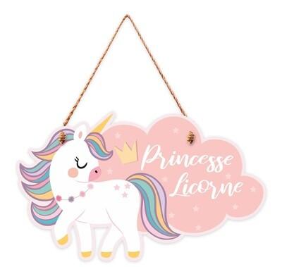 """Pancarte """"Princesse licorne"""""""