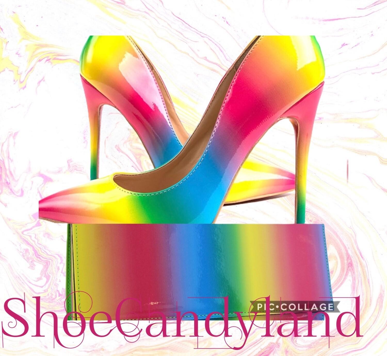 Rainbow heels 👠